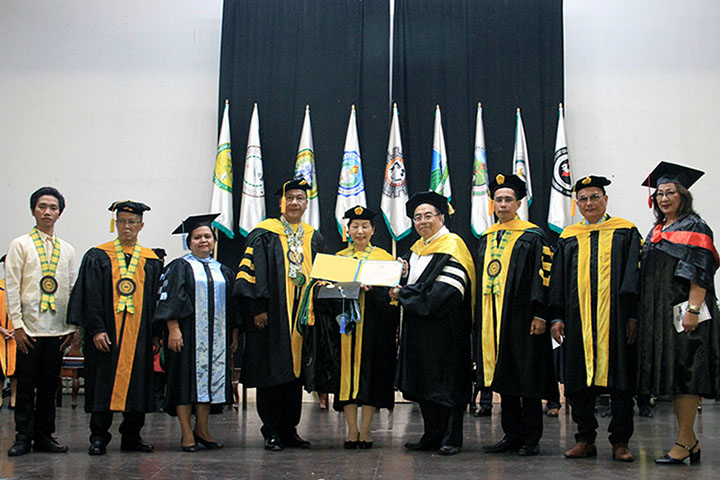 Central Mindanao University in the Philippines Presents Honorary Doctorate